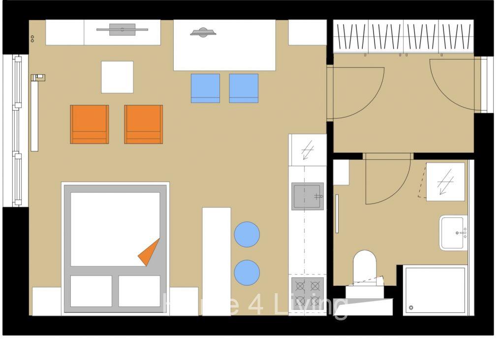 Pronájem bytu 1+kk po kompletní rekonstrukci, Brno - Líšeň, ul. Popelákova