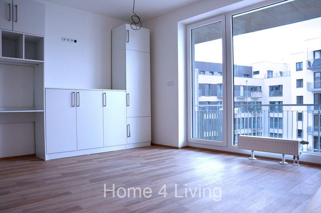 Pronájem bytu 1+kk, novostavba, Rezidence Vranovská, terasa, garážové stání, sklep